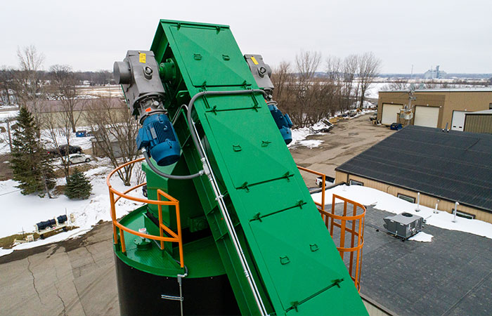 Asphalt Self-Erect Silos - Slat Conveyor