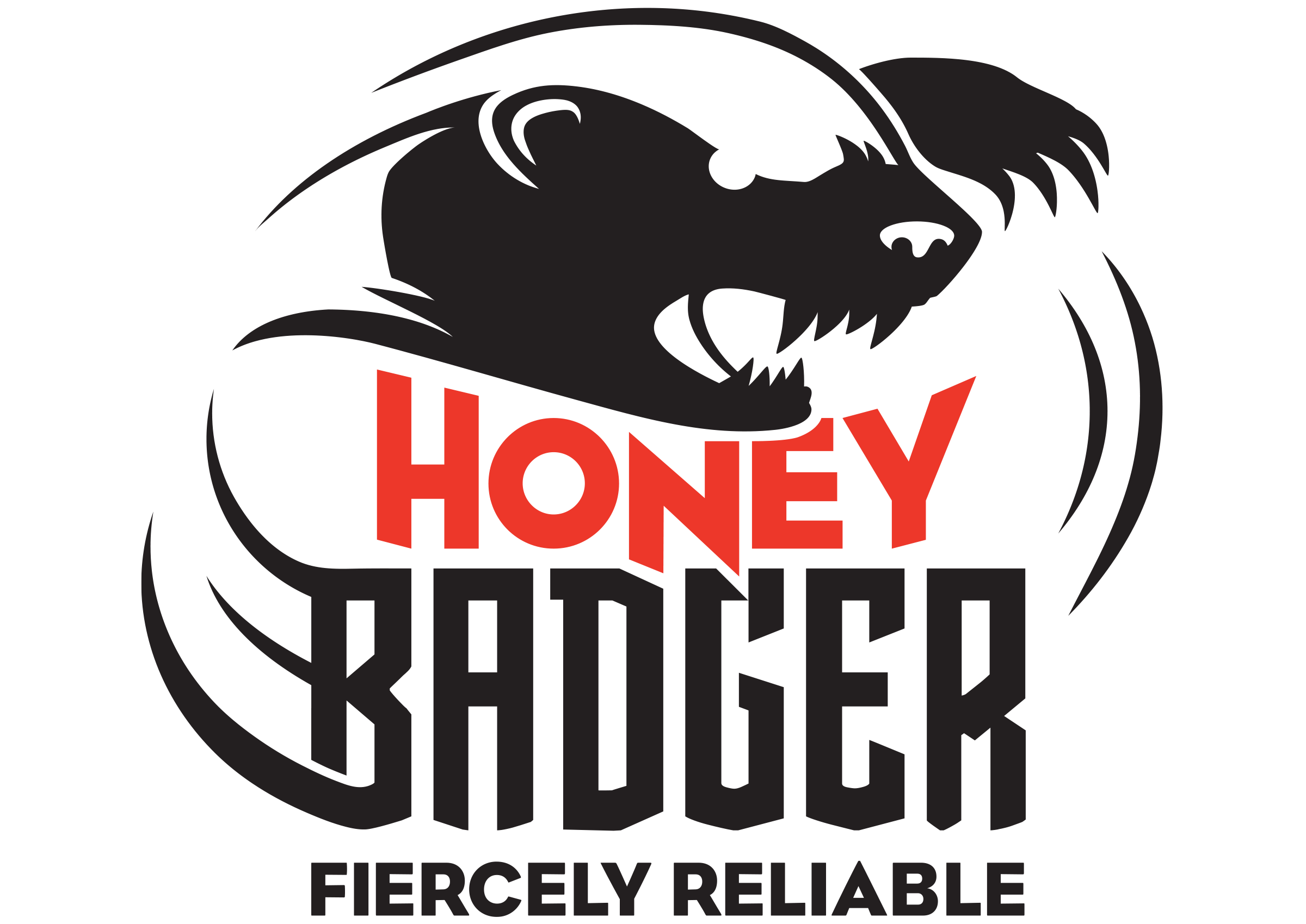 Honey Badger RAP Crusher Logo